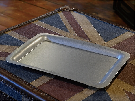 VINTAGE RECT Serving Tray 35x25cm made of stainless steel