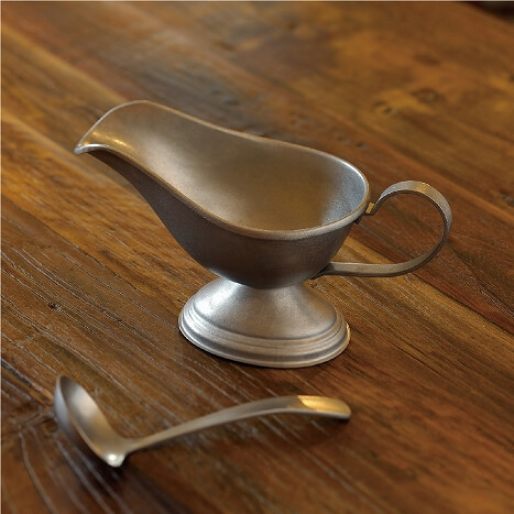 VINTAGE Sauce Ladle and Sauce Pot made of stainless steel