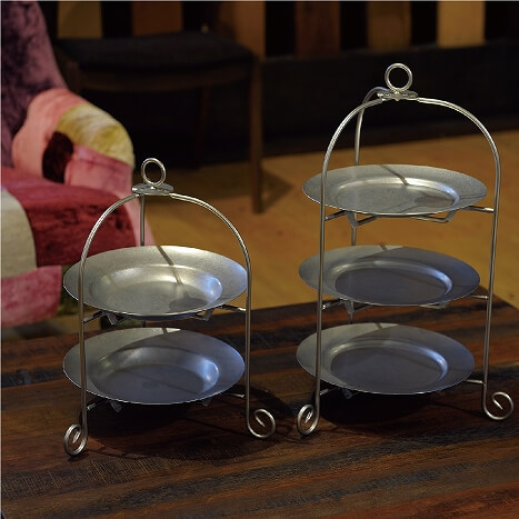 """Dolce"" Foldable Cake Stand made of Iron with nickel plated"
