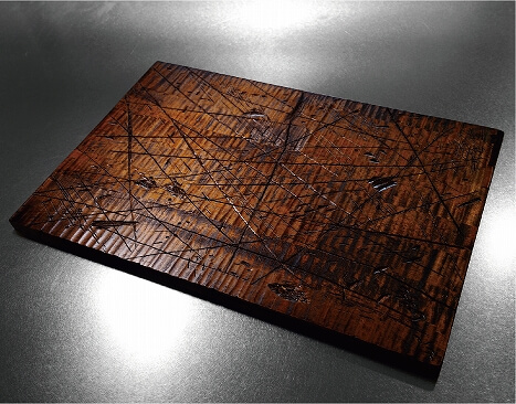 VINTAGE Wood Place Mat made of natural wood with urethane paint